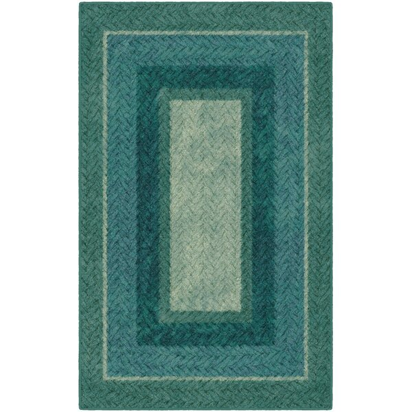 Sheridan Braided Printed Green/Blue Area Rug by Winston Porter