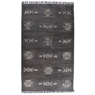 Compare & Buy Astin Tribal Hand Knotted Cotton Black Area Rug ByFoundry Select