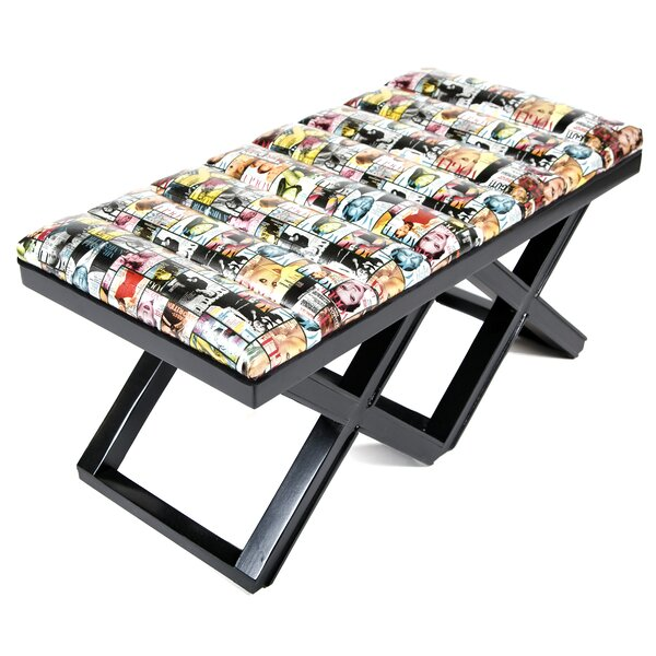 Magazine Upholstered Bench by Loni M Designs