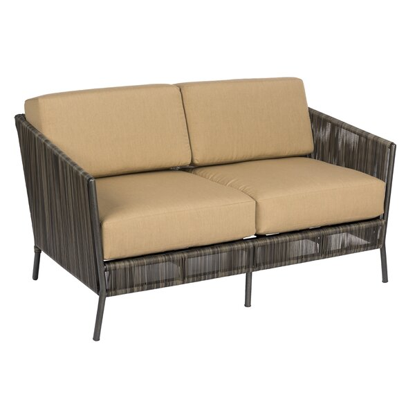 Sonata Loveseat with Cushions by Woodard