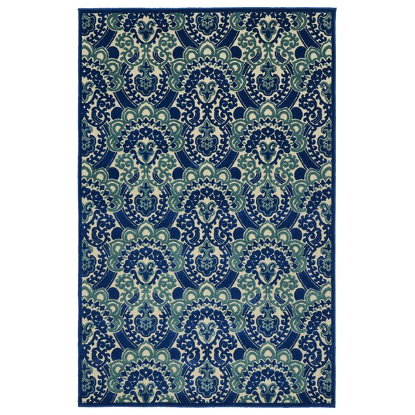 Lewis Machine Woven Blue Indoor/Outdoor Area Rug by Winston Porter
