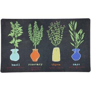 Little Herb Garden Kitchen Mat