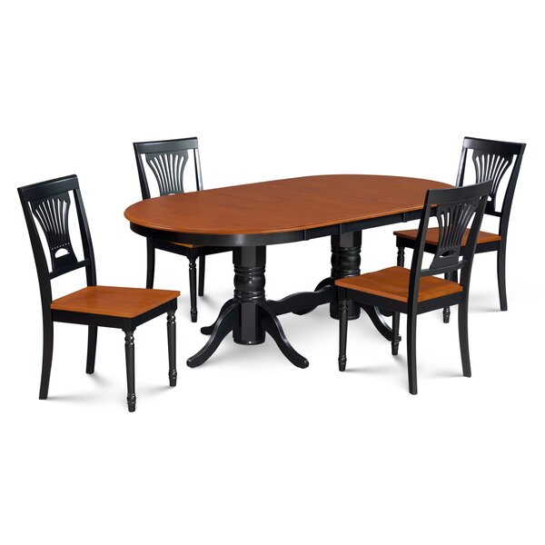 Inwood 5 Piece Carved Dining Set by Darby Home Co