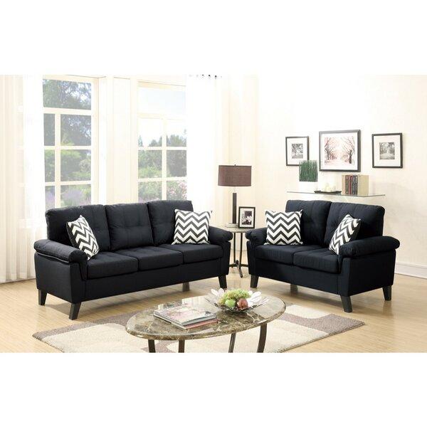 Pourteau 2 Piece Living Room Set by Latitude Run
