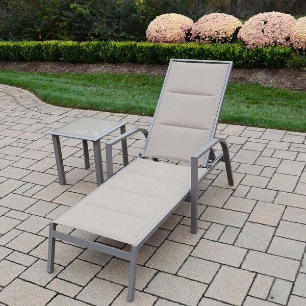 2 Piece Padded Sling Chaise Lounge Set by Oakland Living