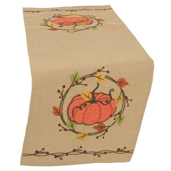 Pumpkin Wreath Table Runner by Manor Luxe