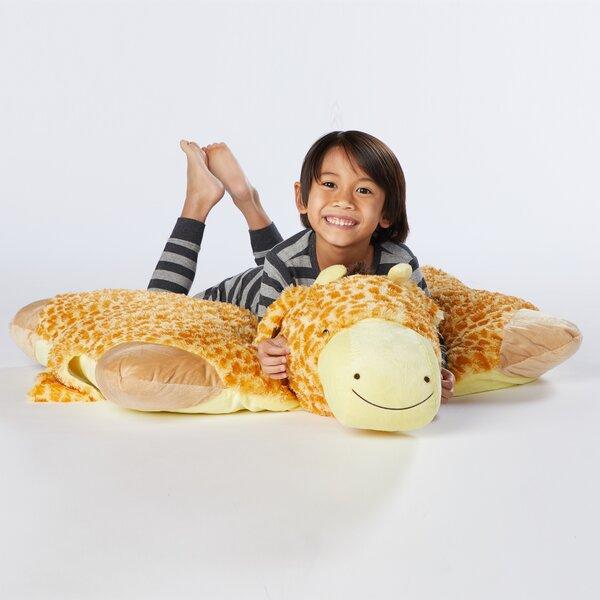 Jumboz Jolly Giraffe Plush Chenille Floor Pillow by Pillow Pets