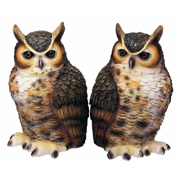 Great Horned Owl Bookends (Set of 2) by Streamline