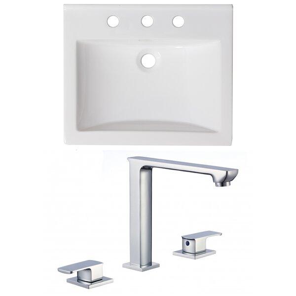 Omni Ceramic 21 Single Bathroom Vanity Top by Royal Purple Bath Kitchen