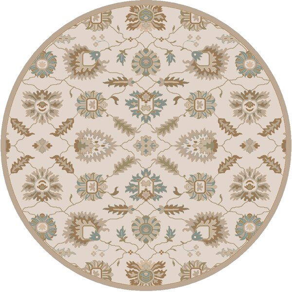 Keefer Hand-Tufted Tan Area Rug by Charlton Home