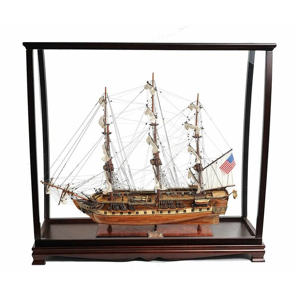 Alden USS Constitution with Display Case by Longshore Tides