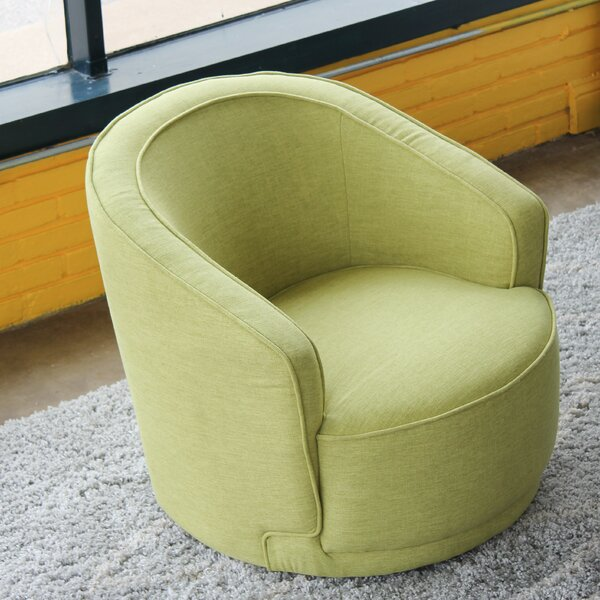 Oaklyn Swivel Barrel Chair by Orren Ellis