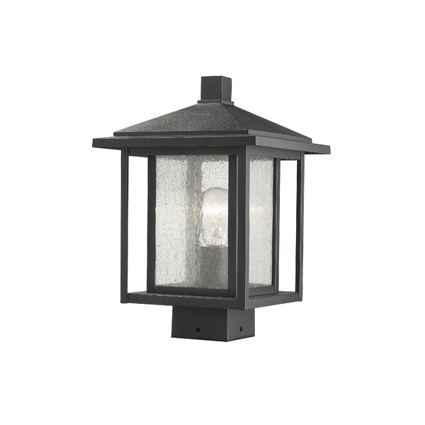 Hungate Outdoor Mount Fixture 1-Light LED Lantern Head by Bloomsbury Market