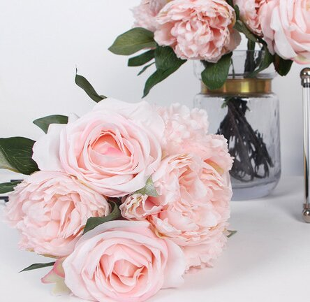 Luxury Silk Rose and Peonie Floral Arrangements by G Home Collection
