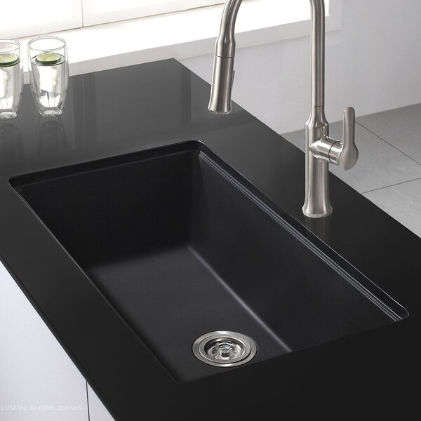 black kitchen sink kraus 31 quot x 17 09 quot granite undermount kitchen sink 1696
