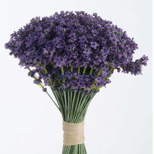 DIY Bouquet Artificial Lavender Bouquet (Set of 6) by Distinctive Designs