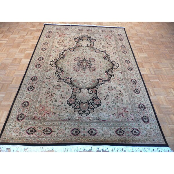 One-of-a-Kind Josephson Hand-Knotted Wool Gold/Black Area Rug by Canora Grey