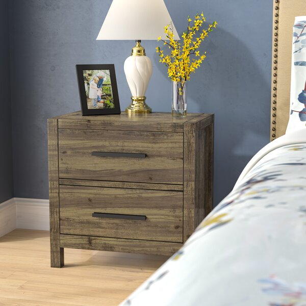 Glynda 2 Drawer Nightstand by Three Posts