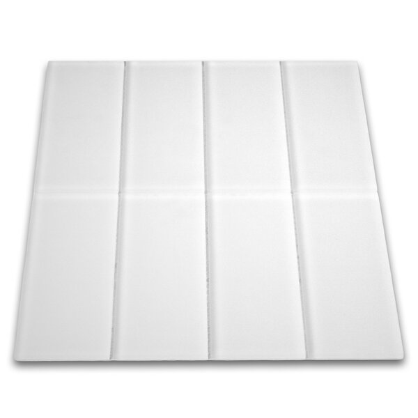 Oxygen 3 x 6 Glass Mosaic Tile in White by CNK Tile
