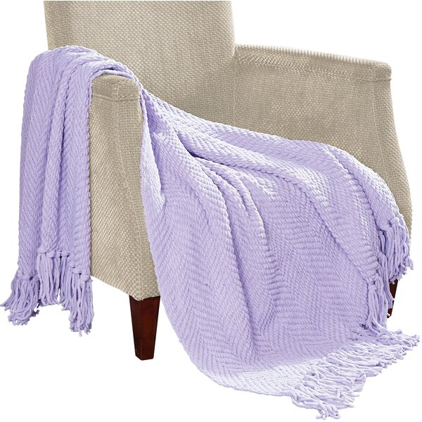 Kraus Knitted Tweed Throw Blanket by Mercury Row