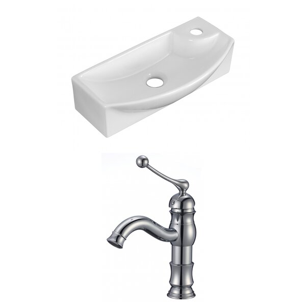 Ceramic 17.75 Bathroom Sink with Faucet by Royal Purple Bath Kitchen