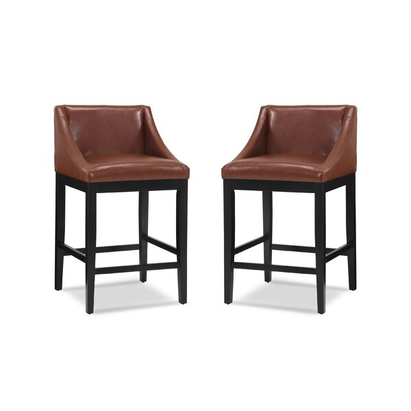 Melson Swoop 30 Bar Stool (Set of 2) by Ivy Bronx