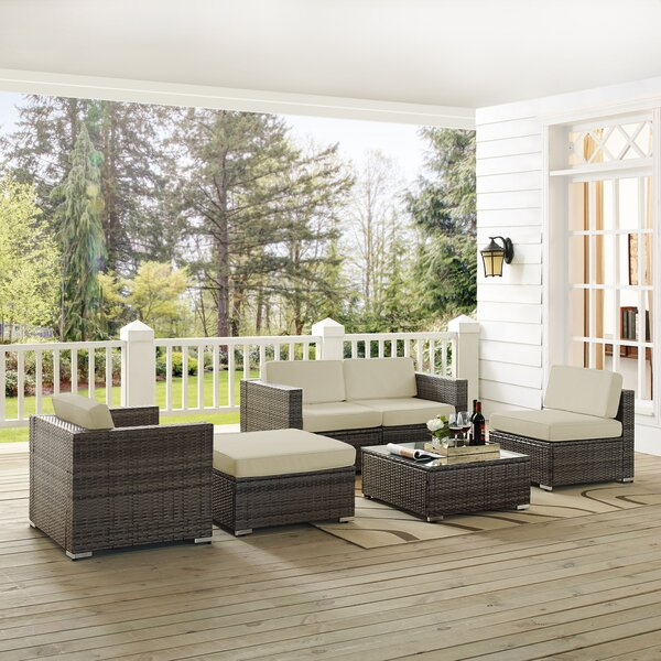 Carmelo 6 Piece Sofa Seating Group with Cushions