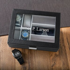 Personalized Men's Watch and Sunglass Box by JDS Personalized Gifts