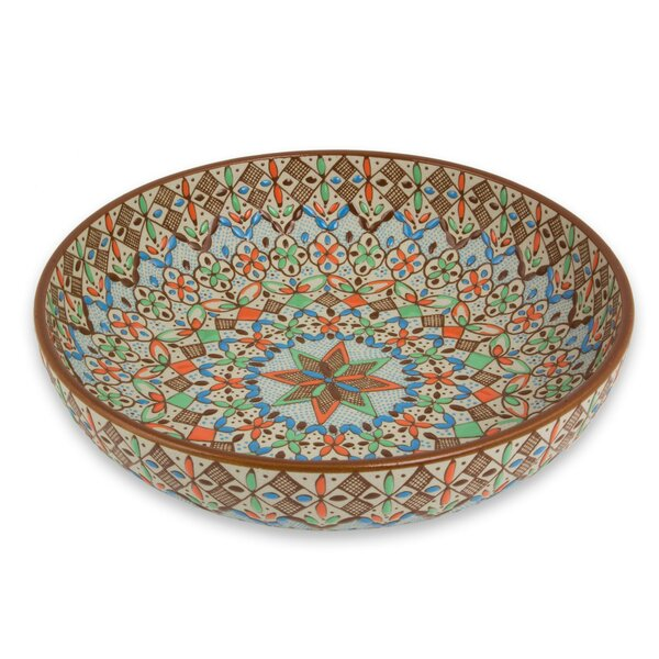 Owlswick Aztec Autumn Pasta Bowl by Bloomsbury Market
