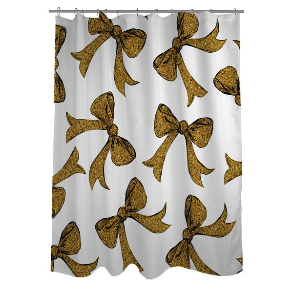 Hello Bows Shower Curtain by One Bella Casa