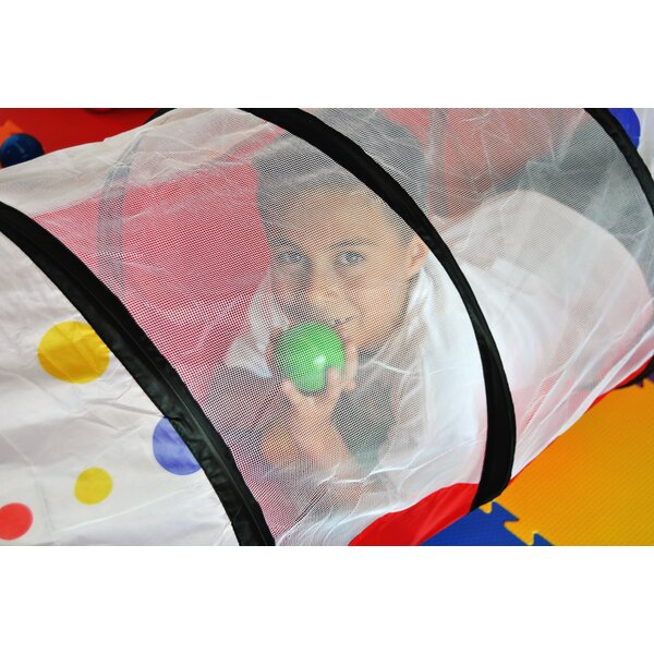 3 Piece Polka Dot Pop-Up Play Tunnel with Carrying
