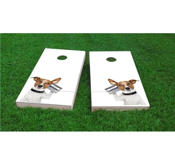 Dog Phone Cornhole Game Set by Custom Cornhole Boards