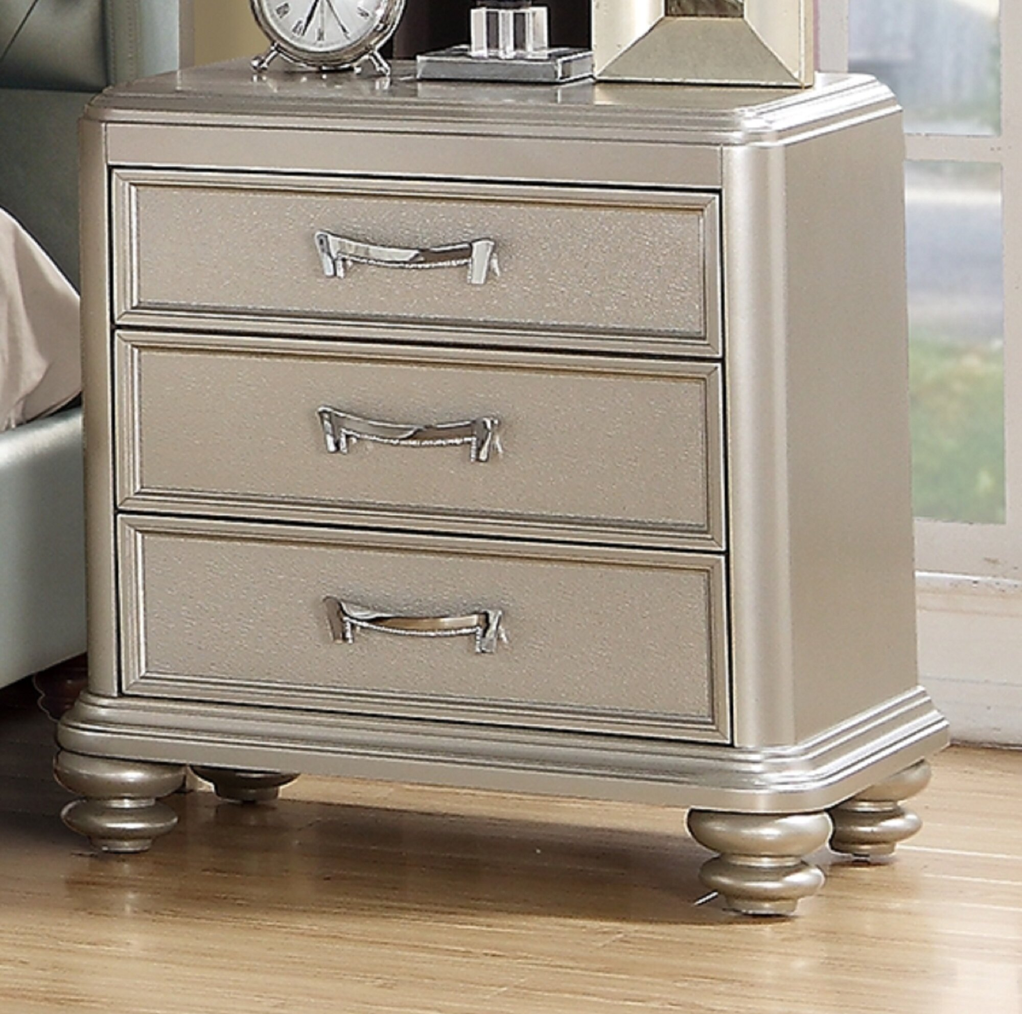 Ault 3 Drawer Nightstand