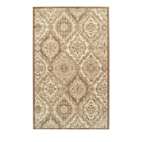 Dunminning Brown and Cream Area Rug by Fleur De Lis Living