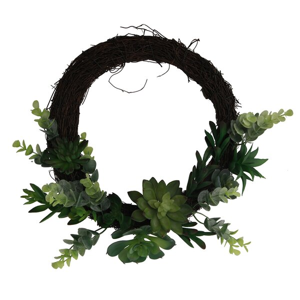 13.5 Succulent Wreath by Bungalow Rose