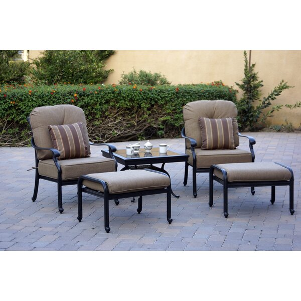 Windley 5 Piece Seating Group with Cushions by Fleur De Lis Living Fleur De Lis Living