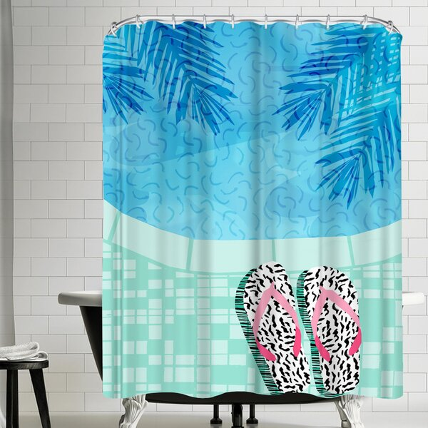 Wacka Designs Go Time Shower Curtain by East Urban Home