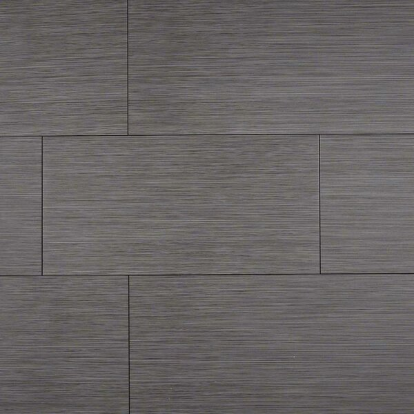Focus Graphite 12 x 24 Porcelain Wood Look/Field Tile in Gray by MSI