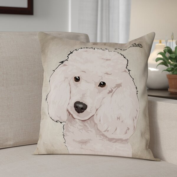 Crispin Poodle Throw Pillow by Red Barrel Studio