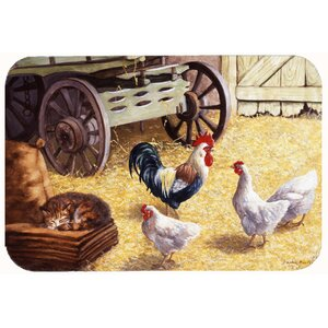 Jaiden Rooster and Hens Chickens in the Barn Kitchen/Bath Mat