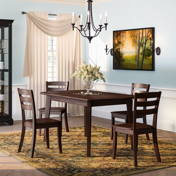 Pico 5 Piece Solid Wood Dining Set by Alcott Hill