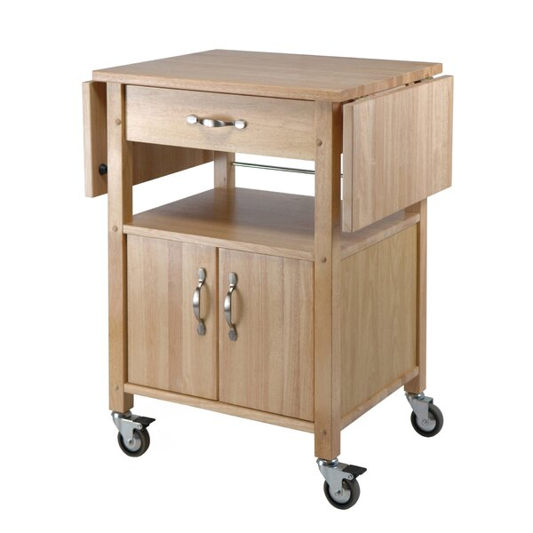 Anthem Kitchen Cart with Wooden Top by Red Barrel Studio