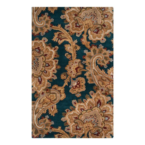 Busch Teal & Brown Area Rug by Alcott Hill