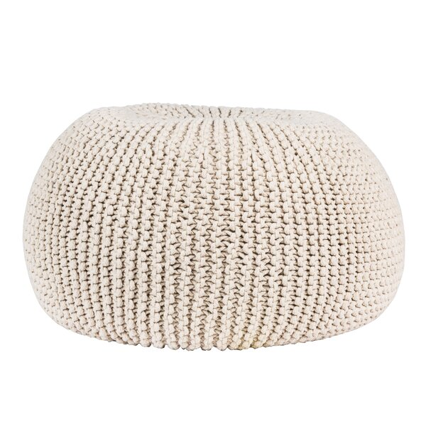 Terwilliger Knitted Pouf by Bungalow Rose