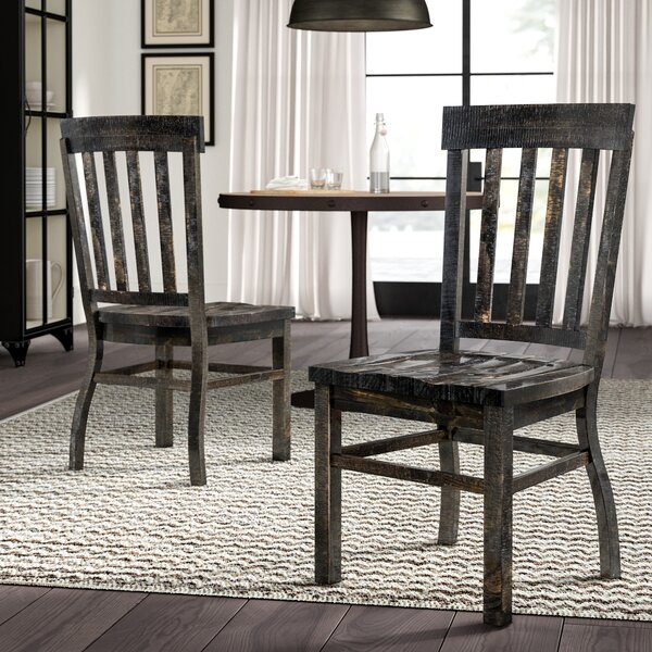 Ellenton Solid Wood Slat Back Side Chair (Set Of 2) By Greyleigh