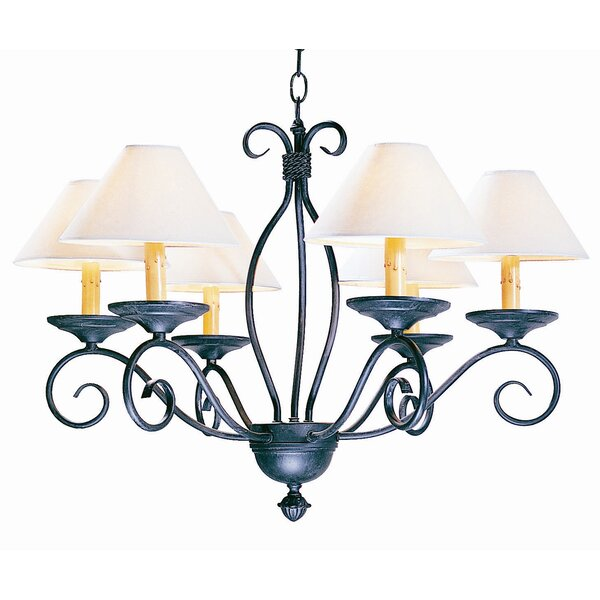 Sienna 6 - Light Shaded Classic / Traditional Chandelier By 2nd Ave Design