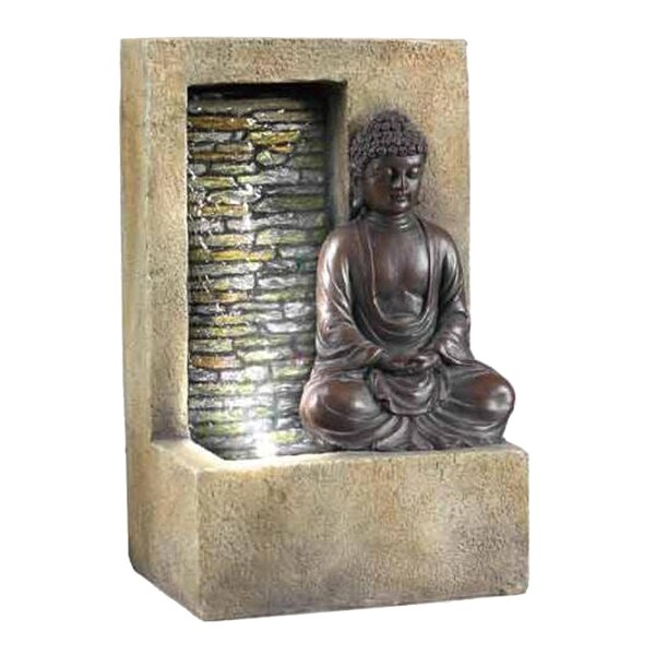 Buddha Tabletop Fountain with LED Light by ORE Furniture