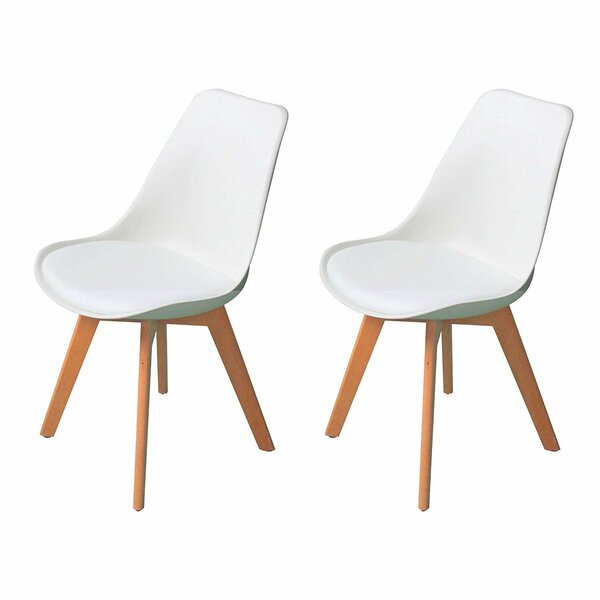 Deux Mid Century Upholstered Dining Chair (Set of 2) by Hashtag Home