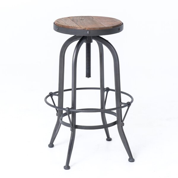 Dublin Adjustable Height Swivel Bar Stool by Design Tree Home