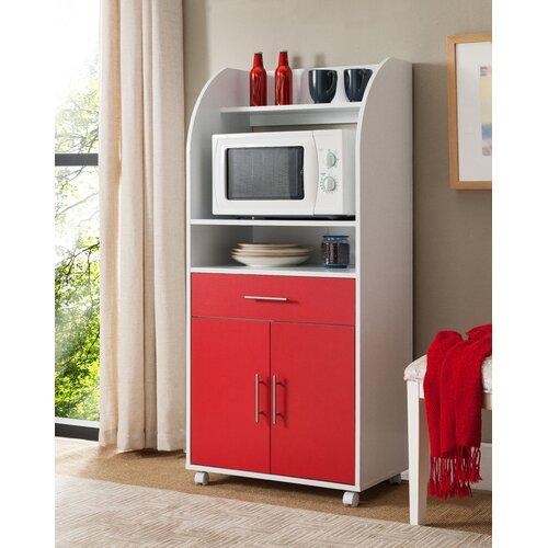 Küchenschrank Chronister ModernMoments Farbe: Weiß/Rot   Wohnzimmer > Schränke > Weitere Schränke   ModernMoments